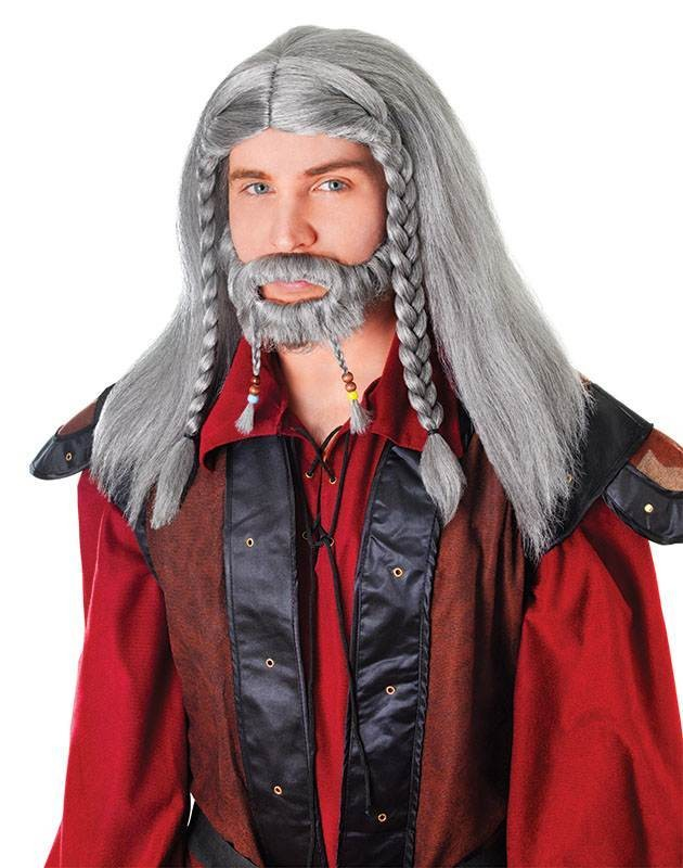 Lord Wig With Tash + Goatee Wig