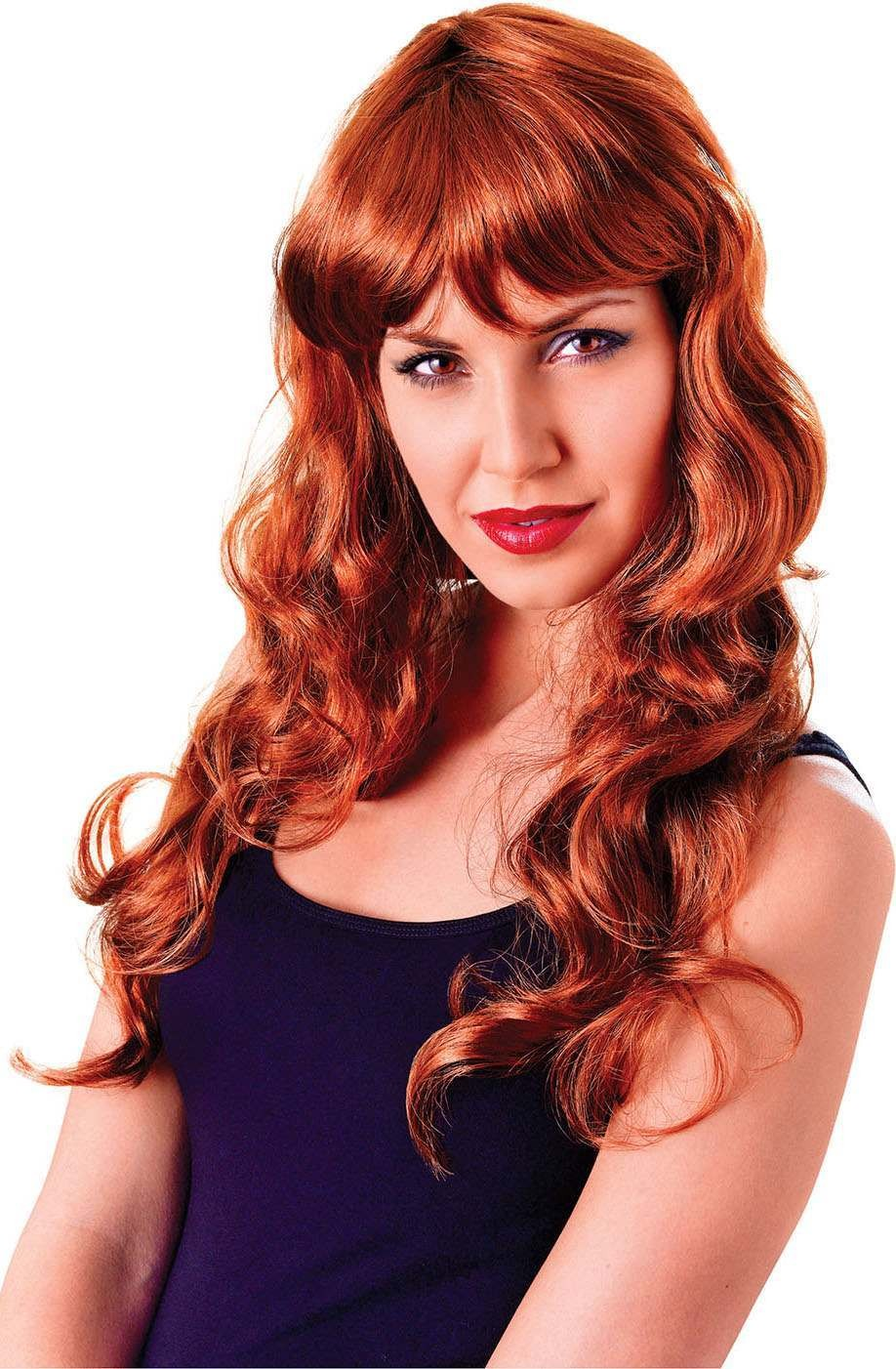 Ladies Temptress Gothic Wig Lt. Brown  Fancy Dress Accessory