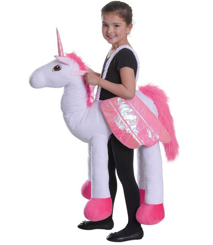 Childs Step In Riding Unicorn Fancy Dress Costume