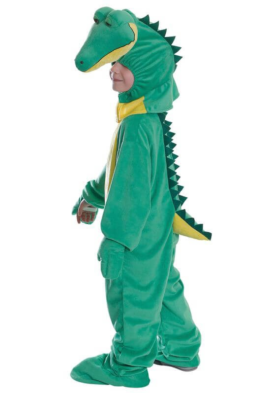 Childs Crocodile Jumpsuit With Head 128Cm Fancy Dress Costume