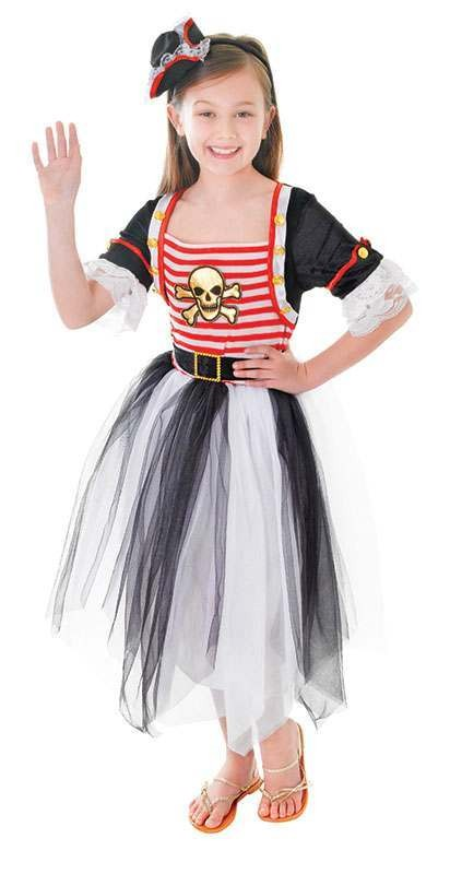 Girls Pirate Princess Fancy Dress Costume