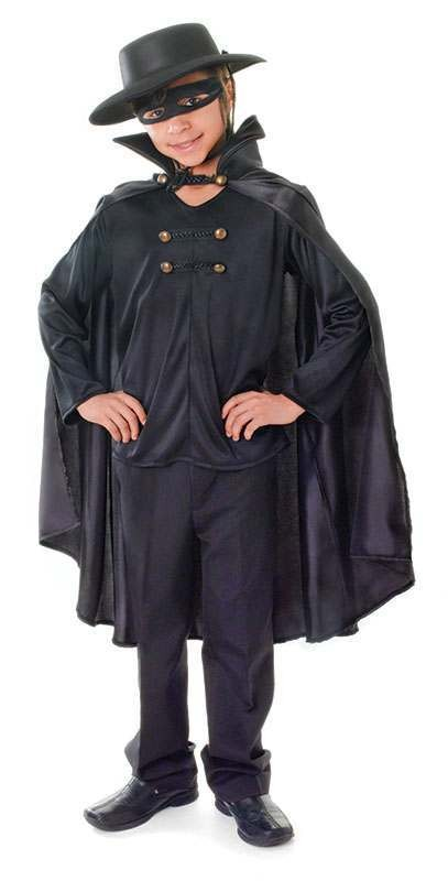 Boys Bandit Cape Fancy Dress Costume