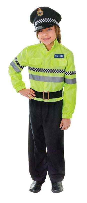 Boys Policeman Fancy Dress Costume