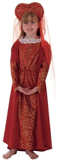 Lady Suzanne (Red) Fancy Dress Costume