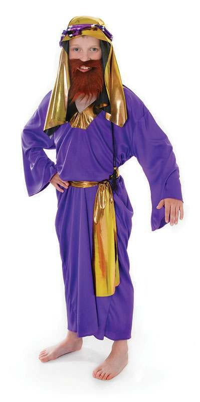 Boys Wise Man. Purple Fancy Dress Costume