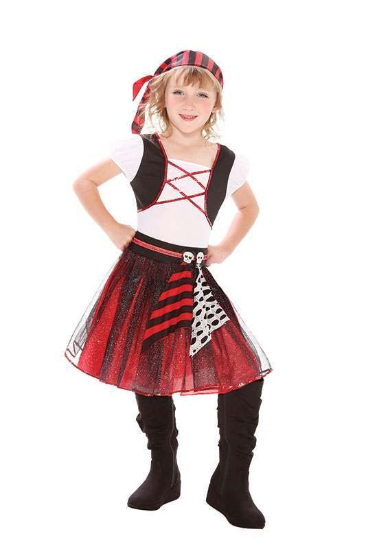 Punky Pirate Girl Fancy Dress Costume