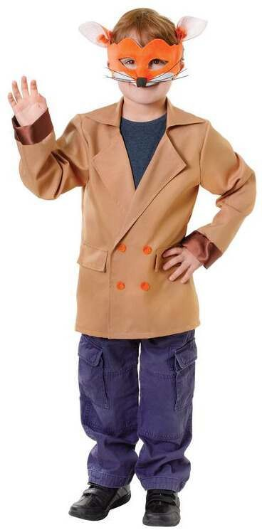 Childs Fantastic Fox Fancy Dress Jacket.(Mask Not Included)