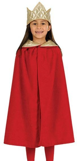Nativity Tabbard- King. Red (Royalty , Christmas Fancy Dress)