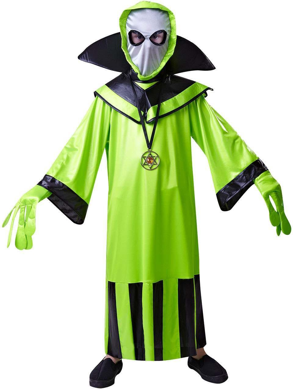 Boys Green (Alien) Fancy Dress Costume
