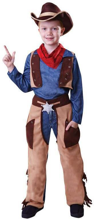Boys Wild West Cowboy Fancy Dress Costume