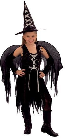 Goth Witch Fairy Fancy Dress Costume
