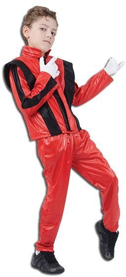 Superstar Red Jacket/Trousers Fancy Dress Costume