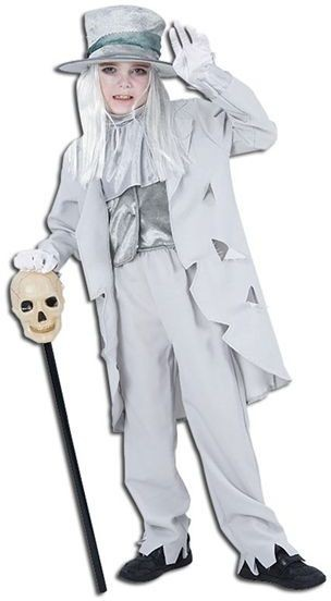 Ghostly Groom Fancy Dress Costume