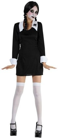 Creepy Schoolgirl Fancy Dress Costume