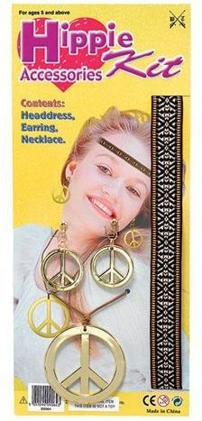 Hippie Accessories Kit (1960S Fancy Dress Disguises)