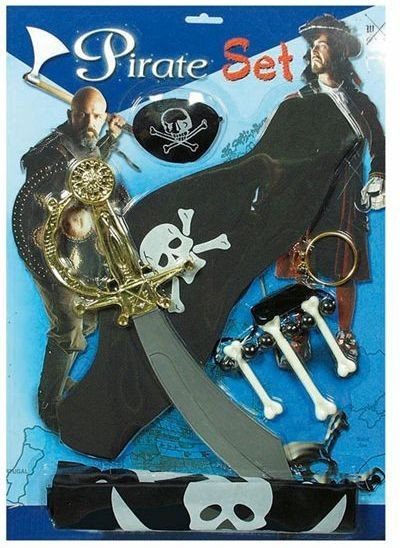 Pirate Playset. Carded (Pirates Fancy Dress Disguises)