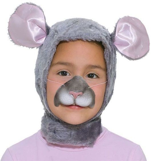 Mouse Set. Childs (Hood + Nose) (Animals Fancy Dress Disguises)