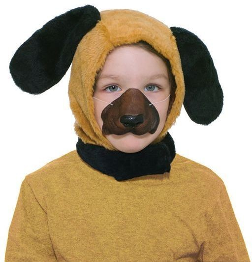 Puppy Dog Set. Childs (Hood + Nose) (Animals Fancy Dress Disguises)