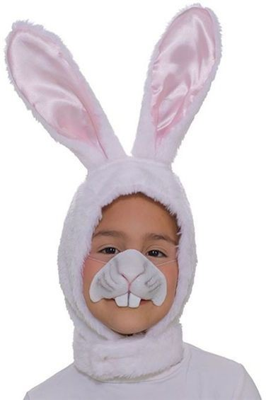 Bunny Rabbit Set. Childs (Hood + Nose) (Animals Fancy Dress Disguises)
