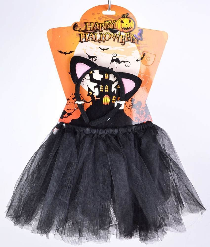 Childs Black (Cat Tutu) Fancy Dress Costume