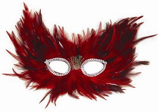 Red & Black Feather (Fancy Dress Eyemasks)