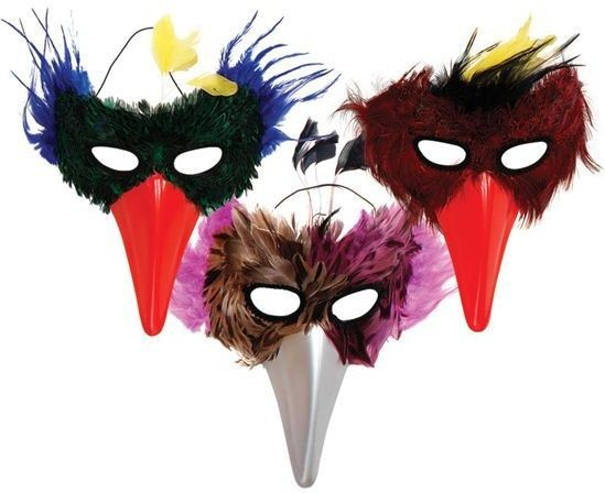 Bird Feather/Plastic Beak X 3 Styles Fancy Dress Eyemask