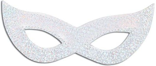 Laser Eye Mask. Silver (Fancy Dress Eyemasks)