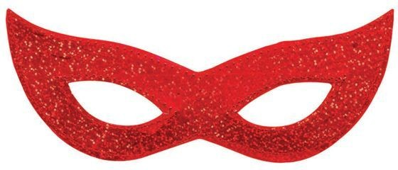 Laser Eye Mask. Red (Fancy Dress Eyemasks)