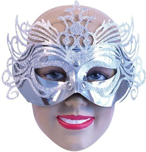 Chrome Eye Mask. Silver (Fancy Dress Eyemasks)