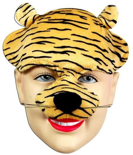 Tiger Half Face & Headband (Animals Fancy Dress Masks)