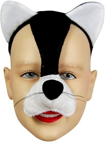 Cat Mask On Headband & Sound Fancy Dress Eyemask