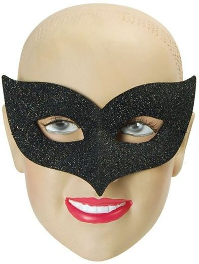 Ibiza Black Glitter (Fancy Dress Eyemasks)