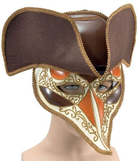 Highwayman Venetian Mask. Deluxe (Fancy Dress Eyemasks)