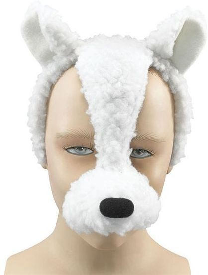 Lamb Mask On Headband + Sound (Animals Fancy Dress Masks)