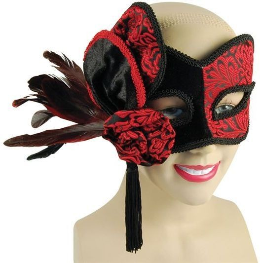 Red & Black Mask (Fancy Dress Eyemasks)