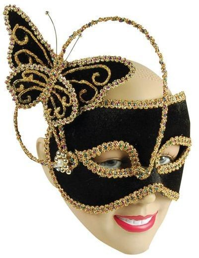 Black Butterfly, 1 Butterfly Decoration (Fancy Dress Eyemasks)