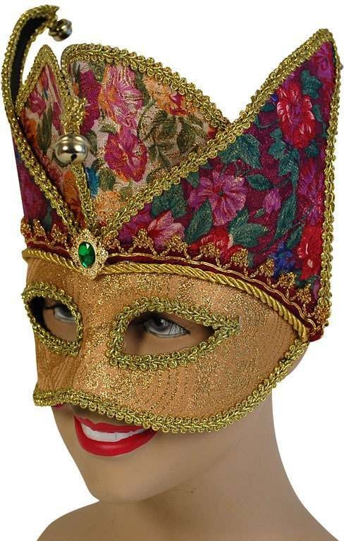 Gold Jester Mask (Fancy Dress Eyemasks)