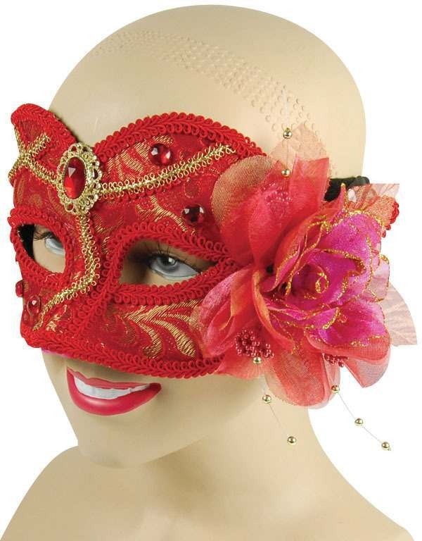 Red Mask With Jewel (Fancy Dress Eyemasks)