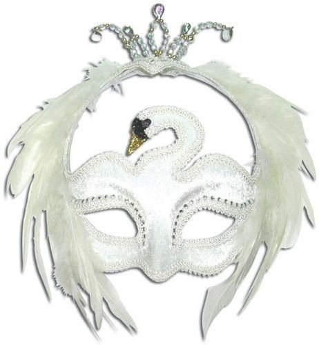 White Swan Mask Fancy Dress Eyemask