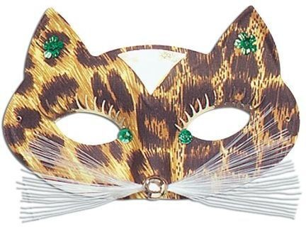 Leopard Domino Eye Mask Fancy Dress Eyemask