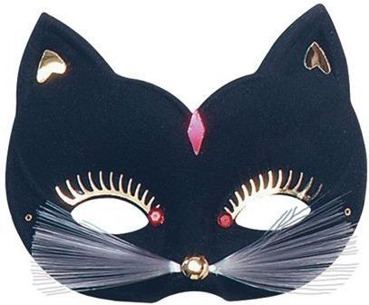 Cat Eye Mask. Large, Black Fancy Dress Eyemask