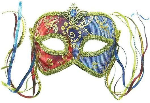 Red & Blue Colour Changing + Tassels (Fancy Dress Eyemasks)