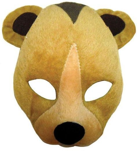 Bear Mask On Headband + Sound (Animals Fancy Dress Masks)