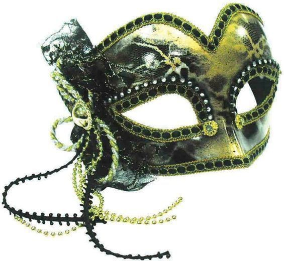Glazed Look/ Gold Decoration (Fancy Dress Eyemasks)