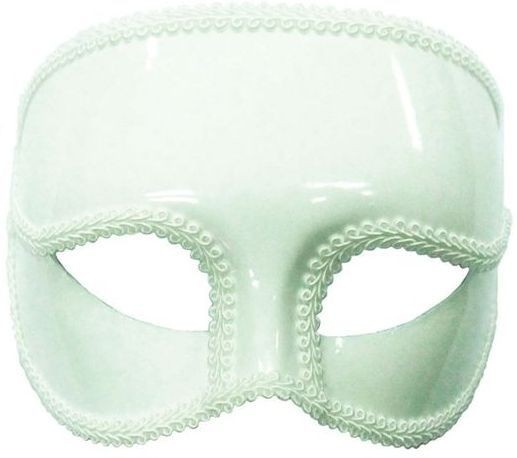 Gents White Mask On Headband (Fancy Dress Eyemasks)