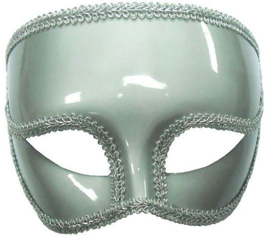Gents Silver Mask On Headband (Fancy Dress Eyemasks)