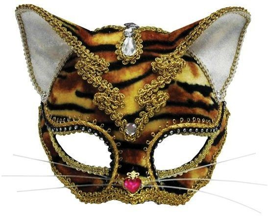 Jewelled Tiger Fancy Dress Eyemask