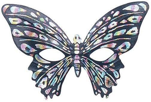 Butterfly Eye Mask Black Fancy Dress Eyemask