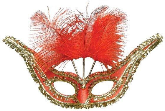Gran Gala Domino, Red (Fancy Dress Eyemasks)