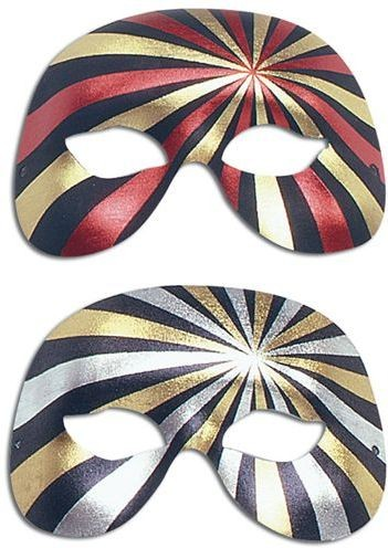 1/2 Face Forehead/Eyes, 2 Colour (Fancy Dress Eyemasks)